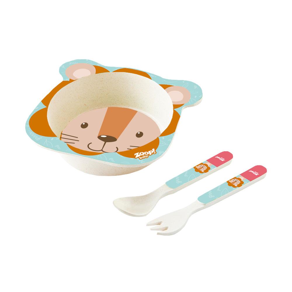 Zoop Baby | Kit Alimentação 3 Peças Leão – ZP00803