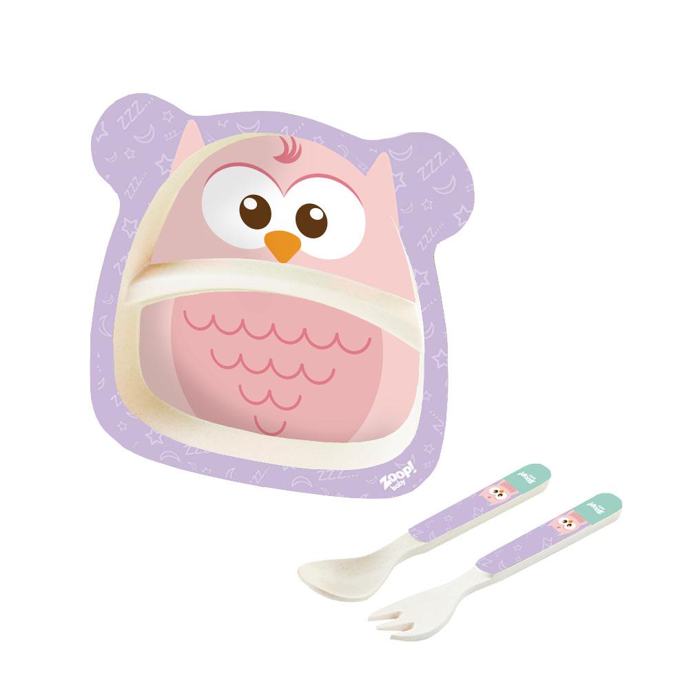 Zoop Baby | Kit Alimentação 3 Peças Grande Coruja – ZP00805