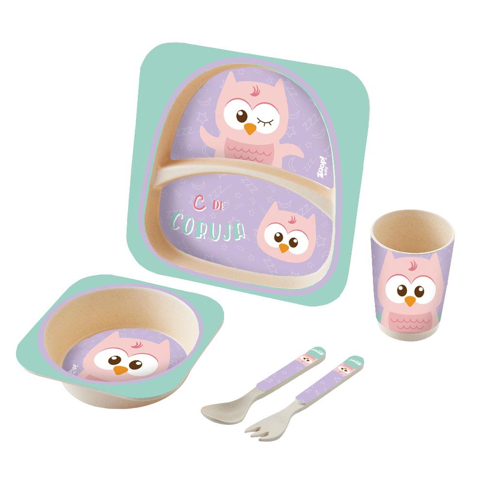 Zoop Baby | Kit Alimentação 5 Peças Coruja – ZP00825