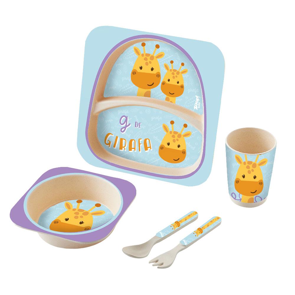 Zoop Baby | Kit Alimentação 5 Peças Girafa – ZP00829